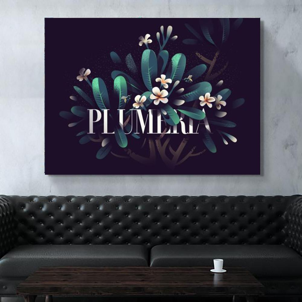 Home Decor Print Hd Painting 1 Piece Lily Plant Pictures Wall Artwork Modular Modern Canvas Poster For Bedside Background Frame