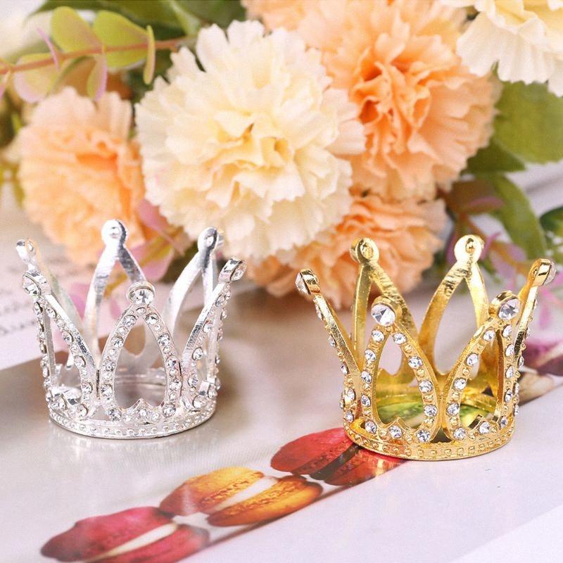 Baby Baby Crown Фотография Фотография Реквизит оголовье кольцо Мини украшения Новорожденные девочки принцессы Золото Серебро Дизайнерская Мемориал ZurB #