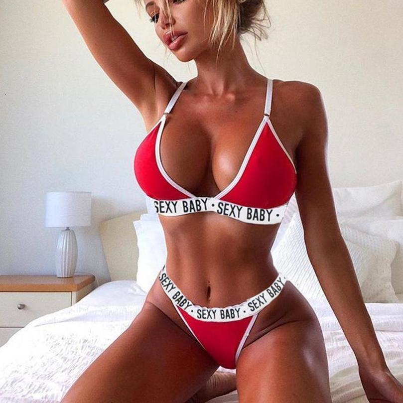 Yüzme Seksi Bikini Thong Seti Seksi Kadınlar Yaz mayo 2020 Bikini Seti Bra Üçgen Takım Elbise Mayo Mayo Yüzme Suit