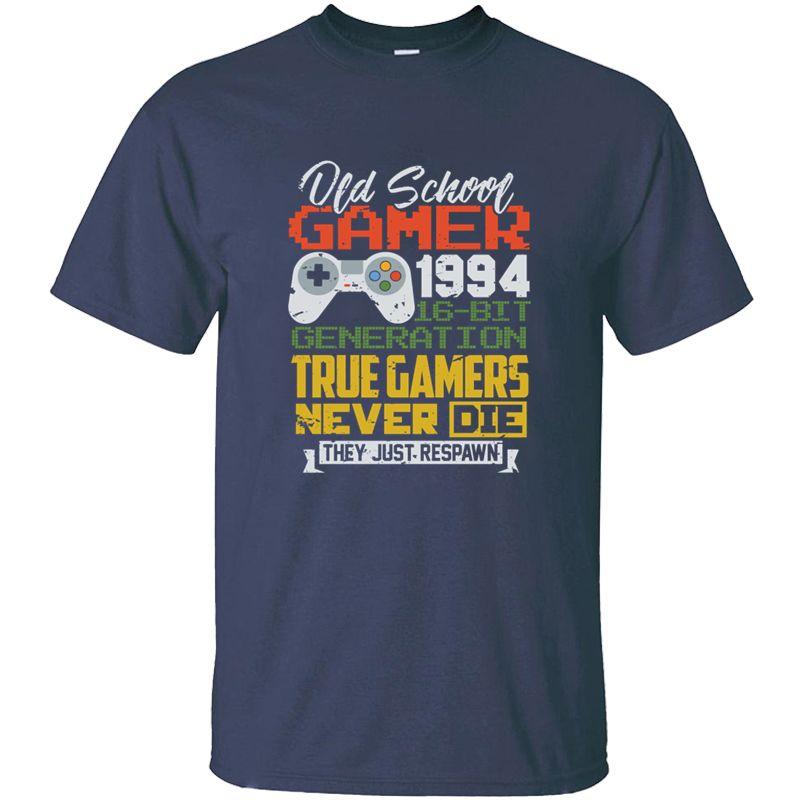 Gedruckt Slogan 1994 - 3. Geburtstag 3 Jahre Alte Schulgamer-T-Shirt Mann Unisex O-Ansatz Comics-Erwachsen-T-Shirts Kurzarm