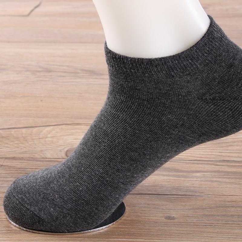 calzini autunno e l'inverno sudare-assorbenti maschili e breve cotone calzini vaJs2 uomini colore cotone casuale dei solidi