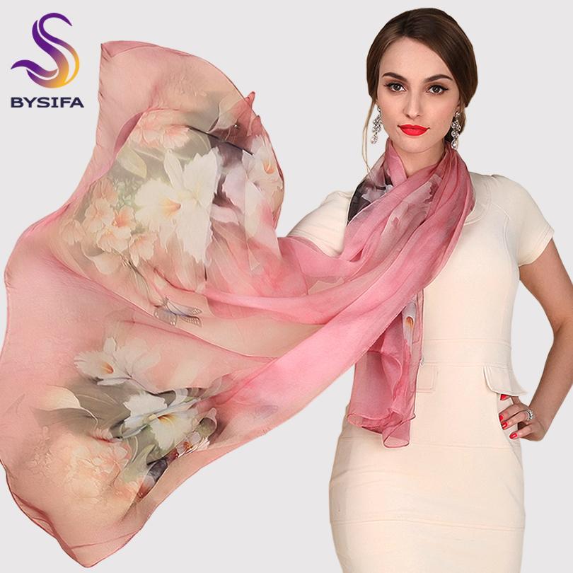 Silk Scarf Mulberry Silk Scarf Long Design Quality Female Spring And Autumn Scarf All-match Fashion Women Satin Pink Shawl CX200727