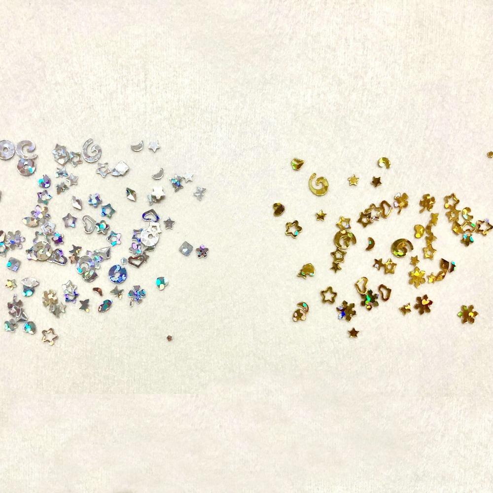20g Mix Style Star Heart Snowflake Laser Paillette DIY Kawaii Resin Stuff Jewelry Stuff Nail Art Decor Glitter Sequins Flakes