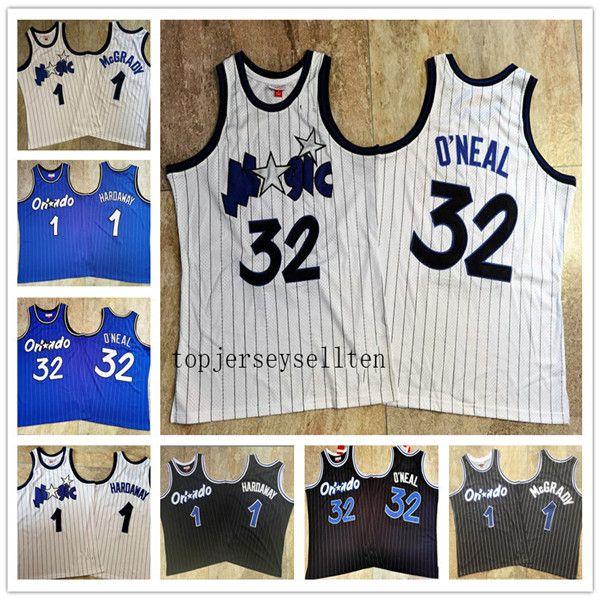 Tracy McGrady Shaquille O'Neal Penny Hardaway Orlandola magiehommes boisClassics basket-ball Jersey