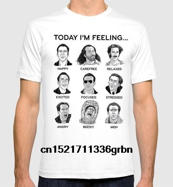 Erkekler Tişörtlü Nicolas Cage Komik komik tshirt yenilik tişört kadınları Faces