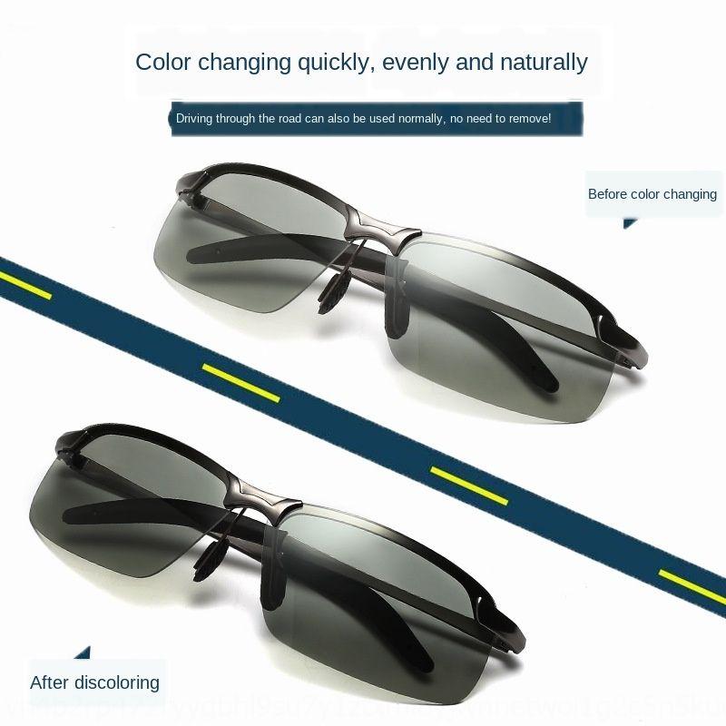 Polarizada de mudança de cor de sol de sol dia e sol dual-purpose óculos de mudança de cor óculos de visão noturna de visão noturna de condução