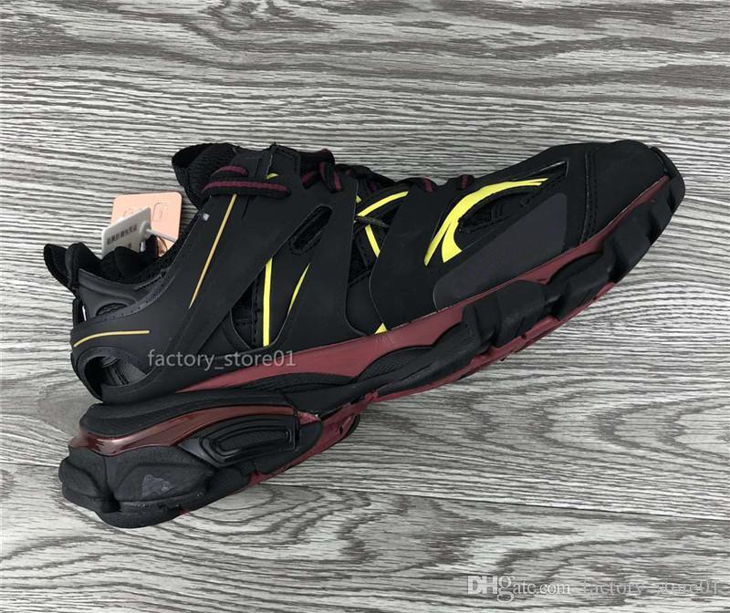 Top versão 3.0 Tess Paris Pista Mens Gomma Maille preto para Mulheres Triple S Clunky sapatilha ténis passear a pé sapatos de grife pai Shoes