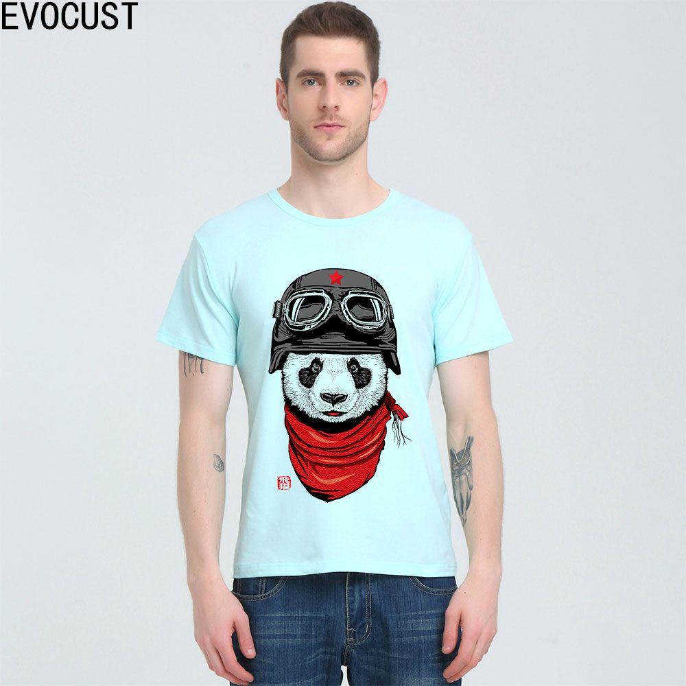 niedlichen Panda Glücklicher Adventurer Lustige 2020 Art und Weise T-Shirt Top Lycra Baumwolle Männer T-Shirt