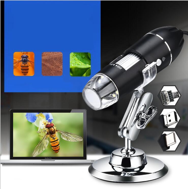 New Mega Pixels 1000X 8 LED USB Microscópio Digital endoscópio Camera Microscópio Magnifier Z P4PM instrumentos ópticos