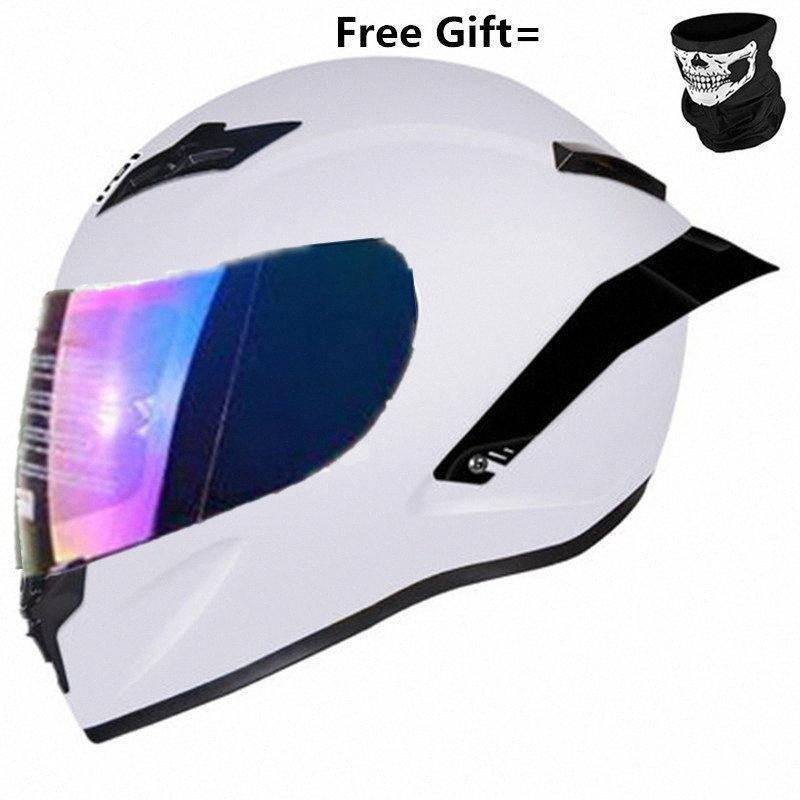 DOT Full Face Motorcycle Helmet Off Raod Capacetes De Motociclista Motocross For Racing Motocross Moto Helm Gloss White S YB5H#