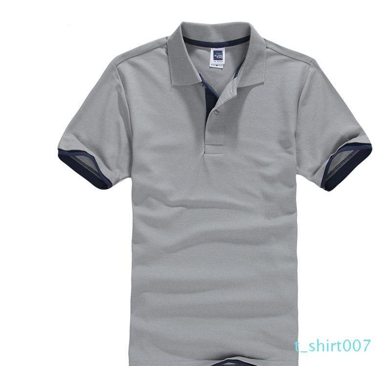 Classic Short Sleeve T shirt da Uomo Estate Casual T-Shirt Solid traspirante lusso cotone Tshirt maglie Golf Tennis Uomini Camisa Top T07