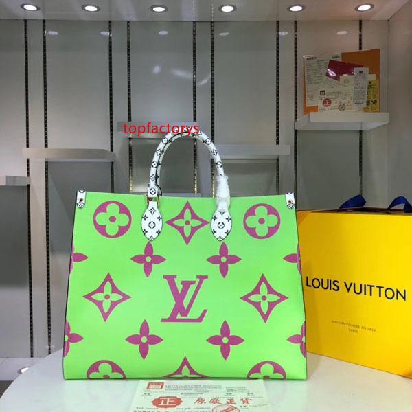 L bolso de mano OnTheGo bolsos de totalizadores de las mujeres de envío Bolsa V Diseño bolsos de lujo del embrague bolsas de hombro del cuero genuino del bolso M44569 M44570 M44571