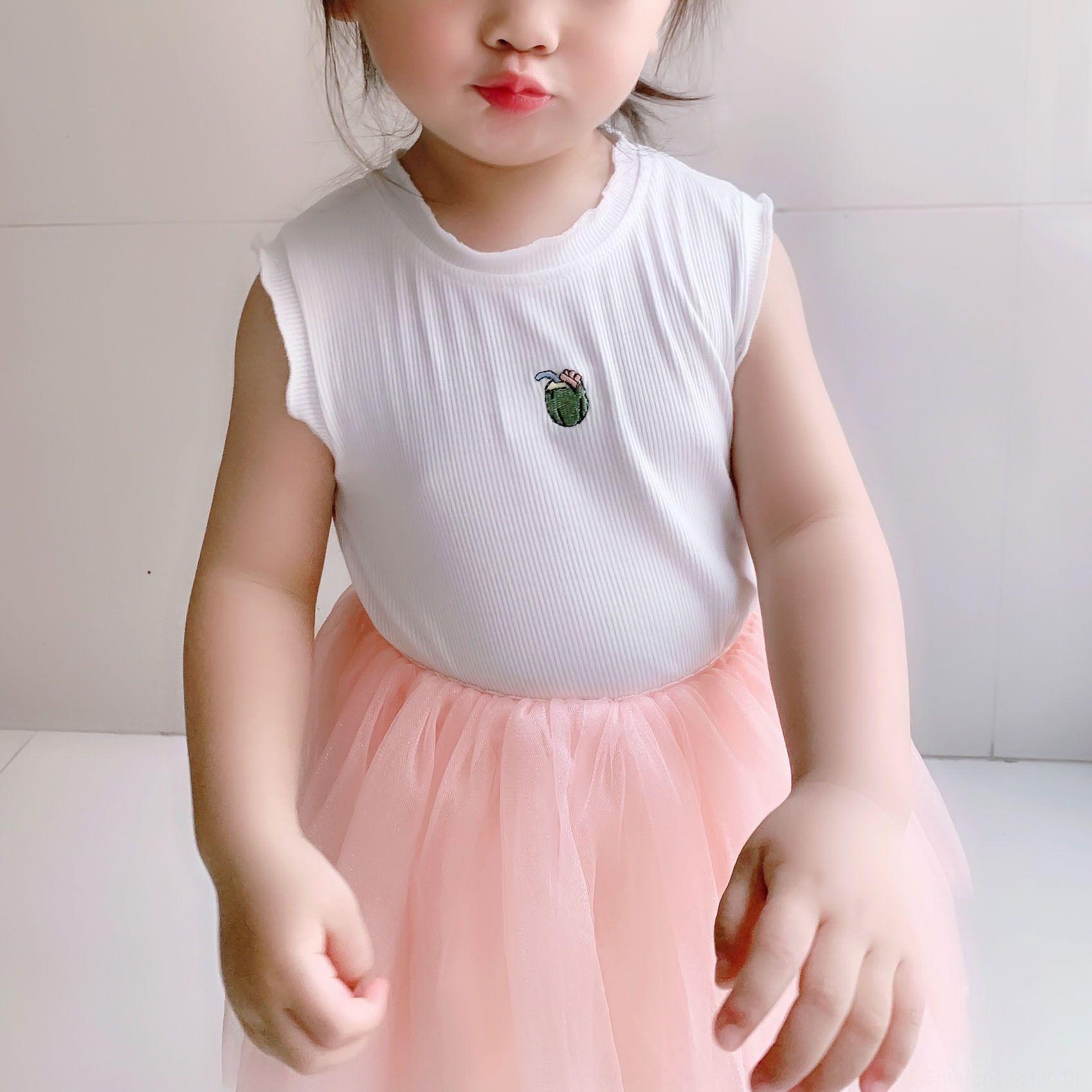 bois oreille pour hommes et vêtements pour femmes d'été 2019 nouveaux enfants brodé veste gilet broderie des rayures de couleurs pures N351