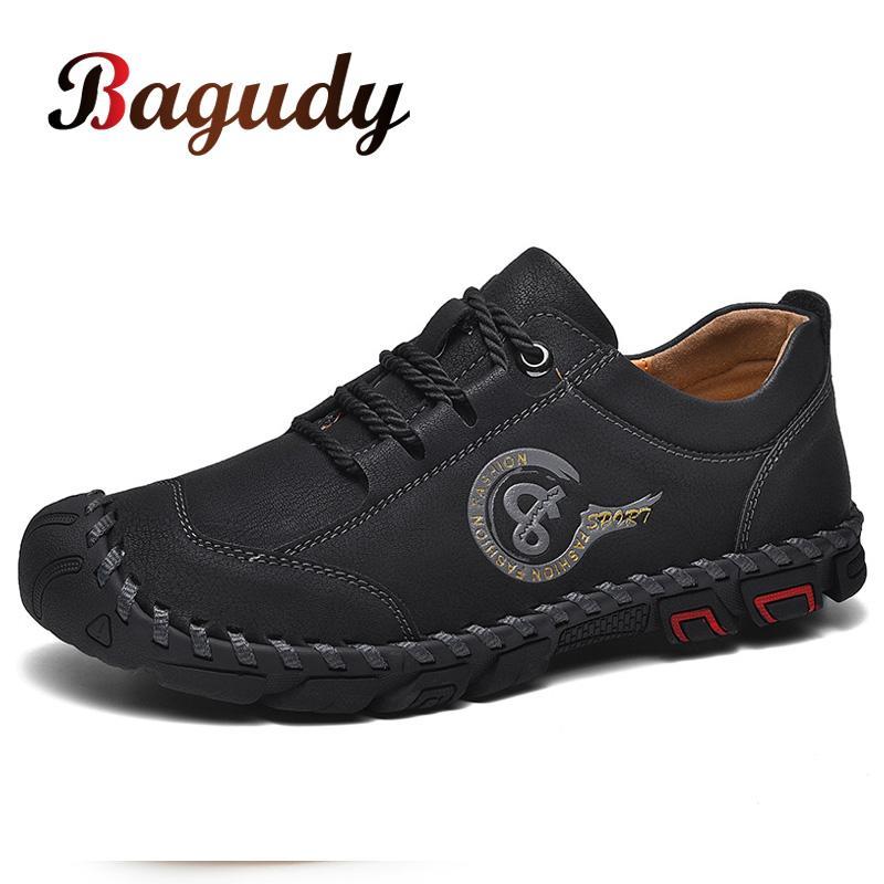 Классические ручные работа из кожи для мужчин повседневной обуви высокого качества Mens бездельников итальянской мокасины мужской Black Flats обувь 38-46