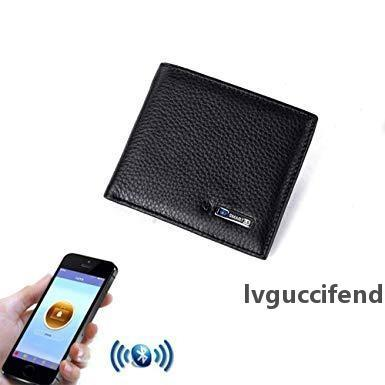 Genuine Leather Men Wallet sintelligent bluetooth anti loss anti theft Wallet Zip Coin Pocket Purse Cowhide Leather Wallets For IOS Android