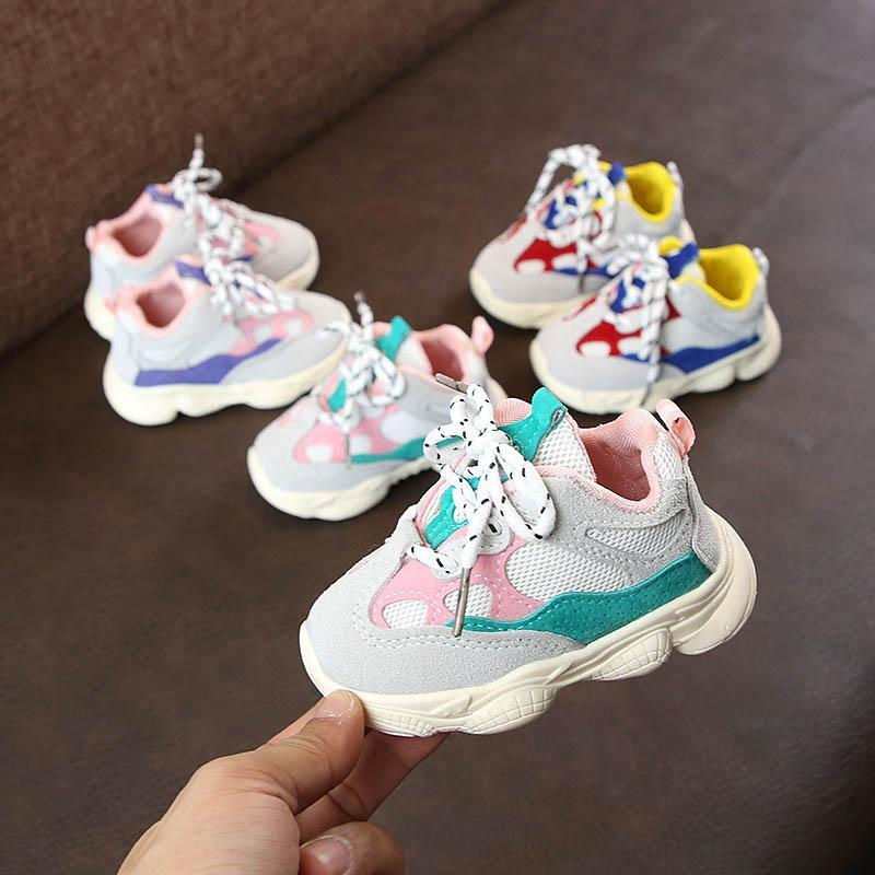 2020 High Quality baby sneakers baby toddler shoes new Breathable ankle protection designer sneakers size 16-28