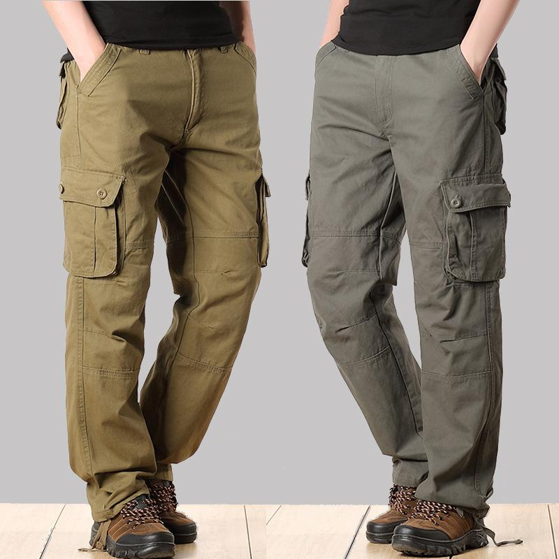 Tactical Pants Army Male Camo Jogger Plus Size Cotton Trousers Many Pocket Zip Style Camouflage Black Men's Cargo Pants