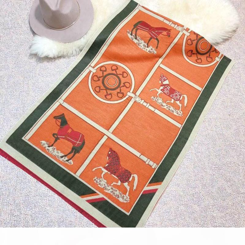 kadınlar ve erkekler için Sonbahar kış toptan tasarımcı moda hayvan baskı eşarp yeni çift taraflı klasik kaşmir eşarp 180 * 70 kutu, 5 renk