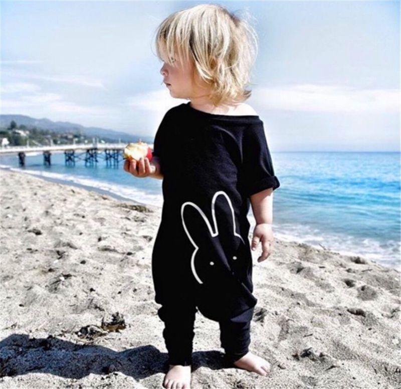 Moda recién nacidos mamelucos s del bebé Romper la marca de ropa de bebé recién nacidos mono corto de la manga del bebé niño ropa de Navidad T200727