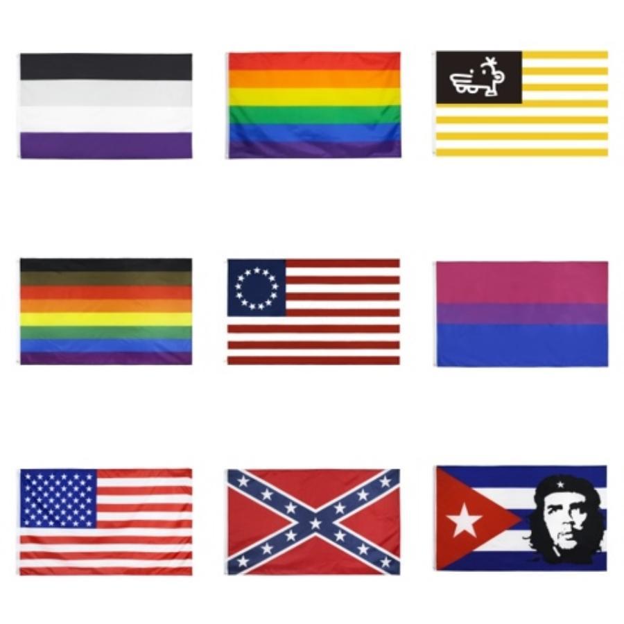 2 banderas de la guerra civil Diseño 3 * 5FT confederado Reble no pisa en mí la bandera amarilla y banderas Negro Banner 90 * 150cm 100PCS envío libre # 131