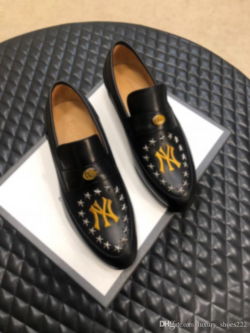 Дизайнер кожи бизнес прогулочная обувь, модные и удобные английские кожаные ботинки панка стиль оригинальной коробки