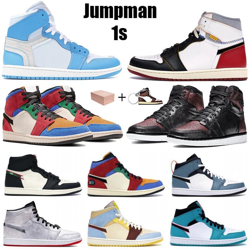 عالية 1 1 ثانية og jumpman أحذية كرة السلة الأبيض شيكاغو unc مسحوق الأزرق ترافيس سكوتس الخوف التعادل صبغ الشراع اسكواش التكبير الرجال تشغيل أحذية رياضية
