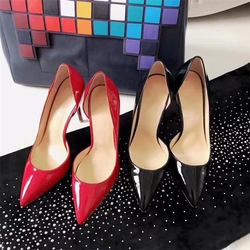 Moda de lujo inferior rojo bombas del diseñador de zapatos de tacones altos de los zapatos de las mujeres Marca Bombas sandalias de tacón alto zapatos de las señoras 8,5 cm 10,5 cm con caja