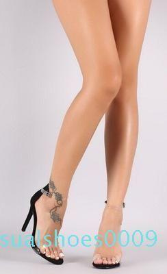 Wholesale Hot Sale Women Platform Sandals Super High Heels Waterproof Female Transparent Crystal Wedding Shoes Sandalia Feminina c09