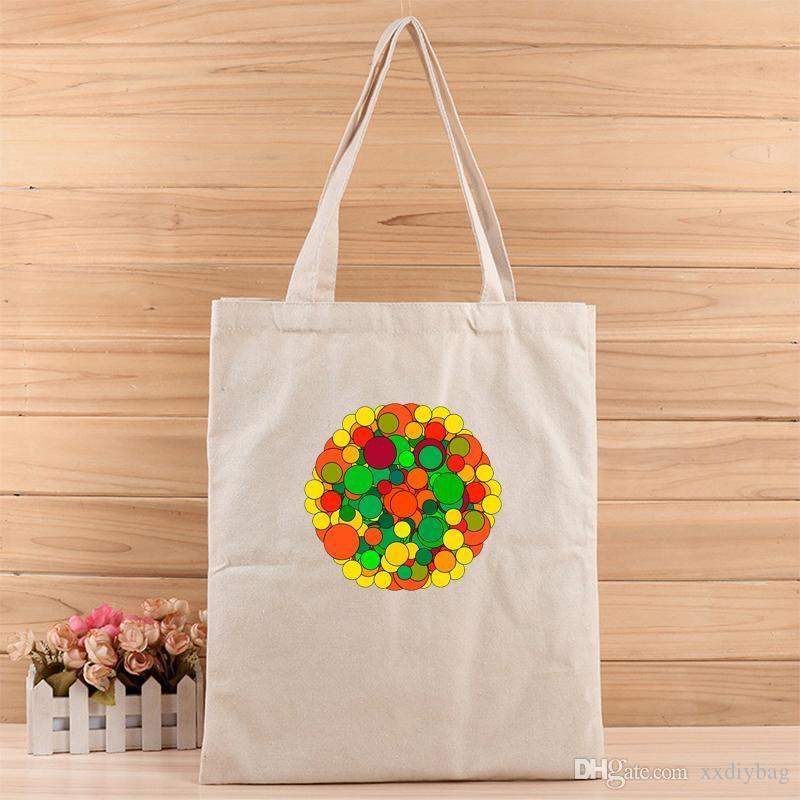 Yaratıcı renkli Moda kızlar ve kadınlar Alışveriş, hediye, düğün, doğum günü ya da başka bir şey için rahat Tuval Bez Çantalar takım