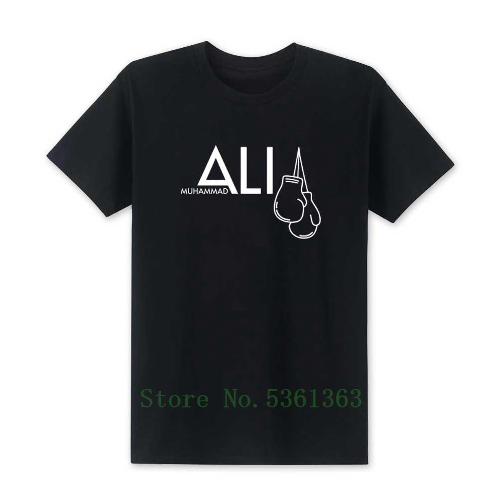 2019 New Fashion Muhammad Ali T-shirt des hommes ALI MOHAMMED T-shirt Vêtements pour hommes T-shirts MMA Hauts occasionnels T shirts en coton homme S-5XL