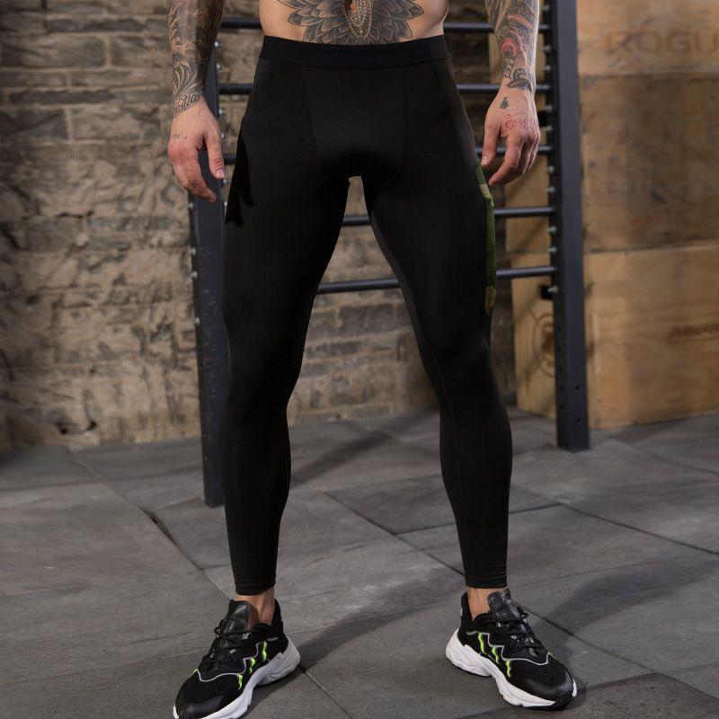 E-Baihui 2020 Men's Fitness Pants Camouflage Pocket Decorative Pants Training Running High Elastic Sports Casual Tight Pants 91303