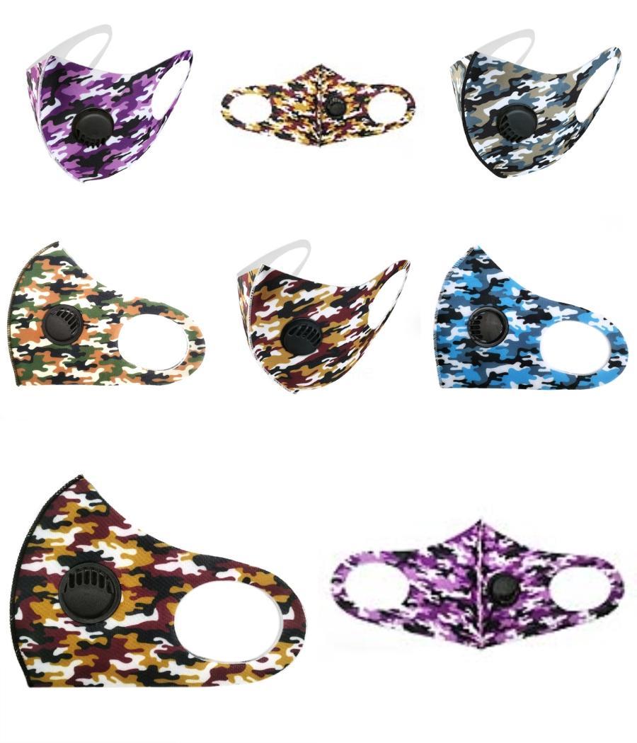 Diseñador reutilizable lavable mascarilla de Máscaras anti contaminación Esponja boca PM2,5 carbono filtros anti polvo del oído ajustable del lazo de tela Máscara FY90 # 811