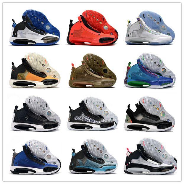 2020 Nuovo Jumpman XXXIV 34 l'anno della Cina Bruce Lee Silver molti colori Mens Basketball Shoes Hot Sale 34s uomini di sport scarpe da tennis degli Stati Uniti 40-46