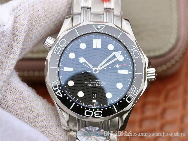 Супер Orologio ди Lusso волнистый циферблат 42mm керамический материал 8800 автоматические механические движения часы водонепроницаемые часы дизайнера