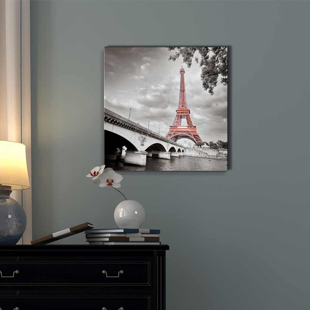 Canvas Prints Poster Home Decor 1 Panel Paris City Tower Bridge Landmarks Skyline Painting Wall Art Modular Pictures Living Room