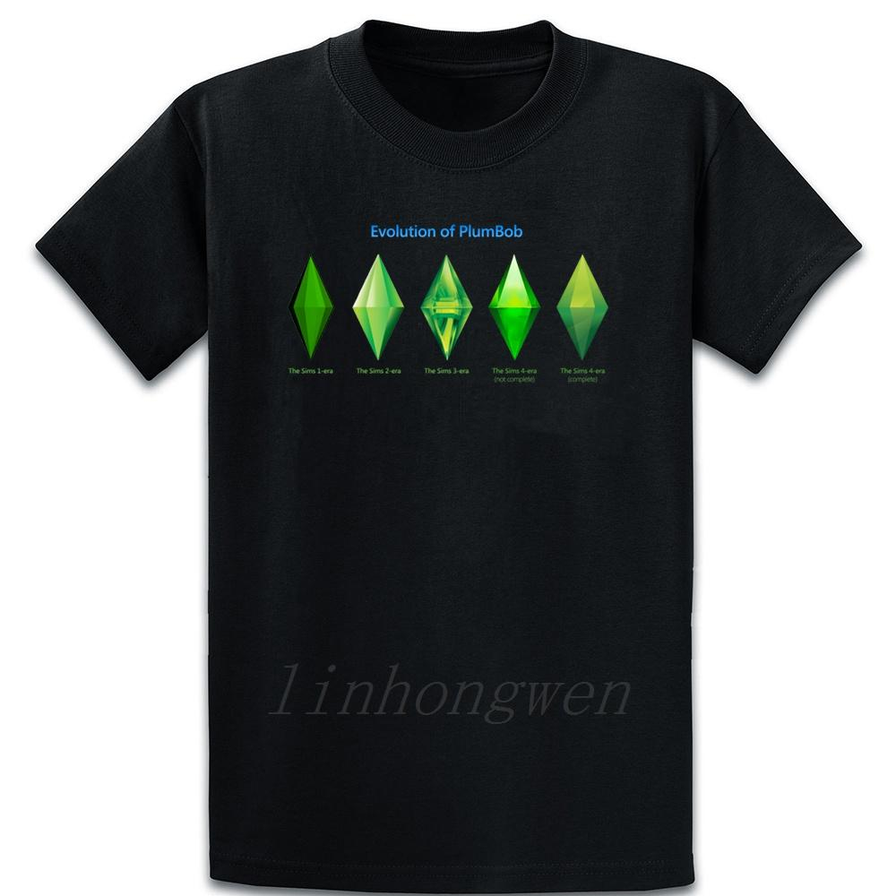 Sims Plumblobs T-shirt drôle d'été Fit T-shirt cool O tricoté à col Outfit shirt