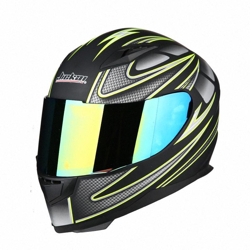 Jiekai Tam Yüz Klasik Motosiklet Git Kart Kask ATV Motosiklet Headguard Casque Casco Capacete HH9C #