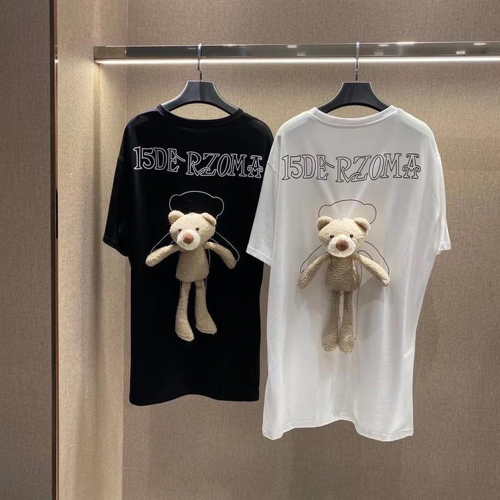 2020SS Wirewear Одежда Teddy Tee Женщины Повседневная Мода Короткие Топы Marzo Street L Футболка Bear Tees Seaname Tee Рукава Качество TiWFC