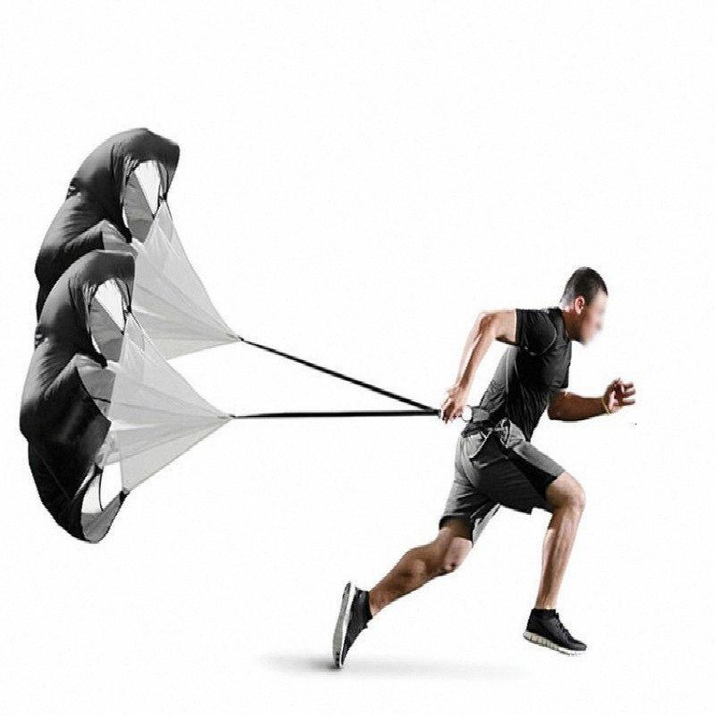 2 Paraguas Correr Cuerda entrenamiento de la velocidad del paracaídas resistencia del canal inclinado del fútbol por la carga de peso Core Fitness Fuerza Ejercicio # m6BB