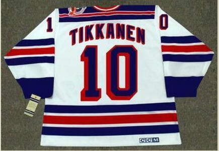 mulheres costume Homens Jovens Vintage # 10 Esa Tikkanen New York Rangers 1994 CCM Hockey Jersey Tamanho S-5XL ou personalizado qualquer nome ou número
