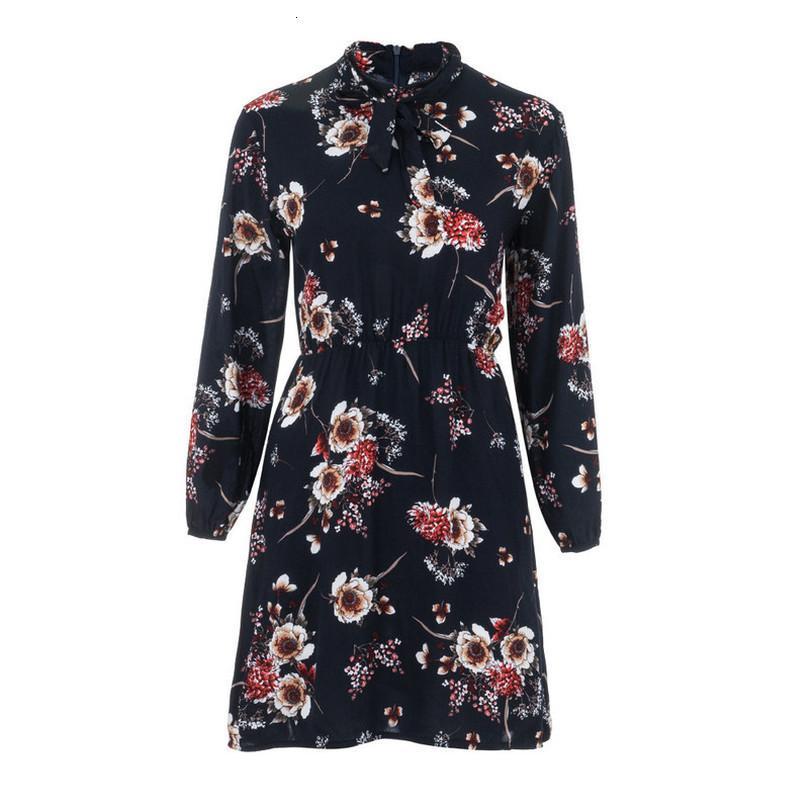 Stilvolle Bar Frauen Zippers Beiläufiges Printed Langarm-V-Ausschnitt-Kleid-Damen Street mit Lace Up Kleider 2020 Partei-Kleid H0125