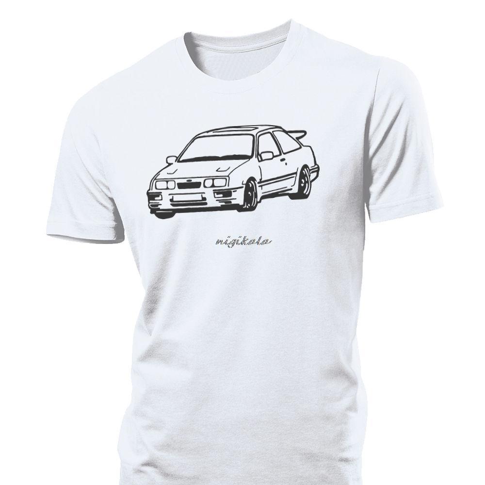 Porta Cosworth Mens T Shirt 3 Rs500 Cossie T4 Race Trackday Ford Sierra maniche corte T-shirt il trasporto TOP TEE goccia