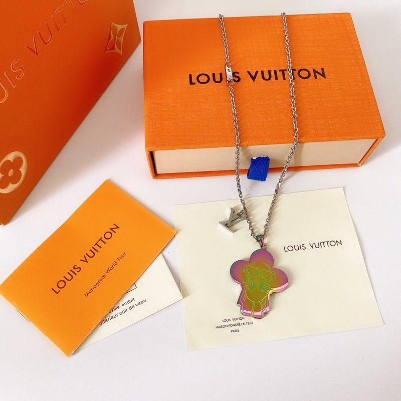 LOUISVUITTON Entwerferschmucksachen Hip-Hop-Designer Halskette Schmetterling Anhänger Herren 14k Gold Ketten Anfangsbuchstaben P15 heraus gefroren