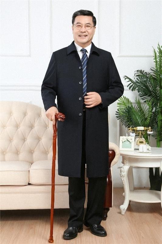Hohe Qualität 2020 Frühling und Herbst der neuen Männer Trenchcoats X-Long Jacken Wollmischung Windjacke Man Over Business Casual neul #