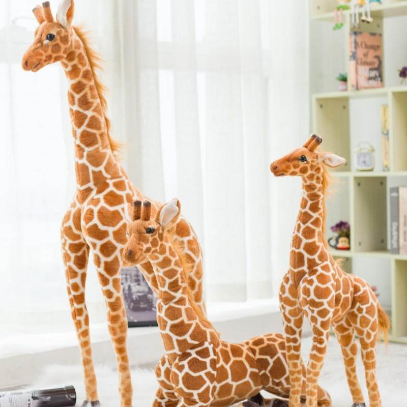 Гигантский размер жираф плюшевые игрушки мило чучела мягкая кукла детские дети рождения подарок оптом