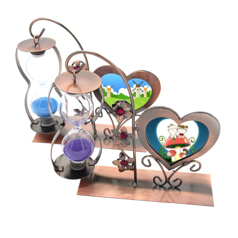 Esculpida Artesanato Único de suspensão Hourglass coração - quadro em forma de presentes criativos Decoração