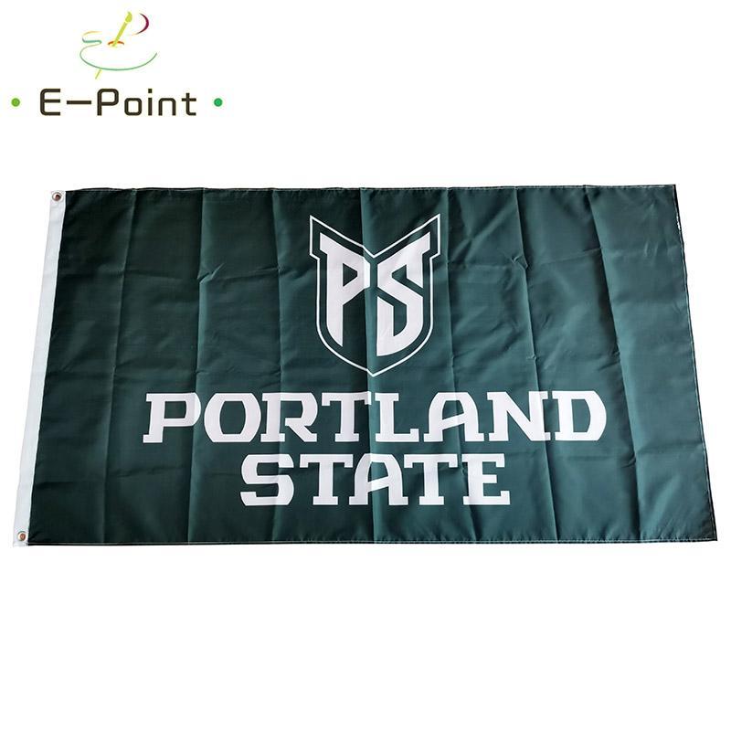 Bandera de la NCAA Portland State Vikings de poliéster bandera * 3 pies 5 pies (90 cm 150 cm *) indicador de la bandera de la decoración de volar a casa regalos del jardín al aire libre