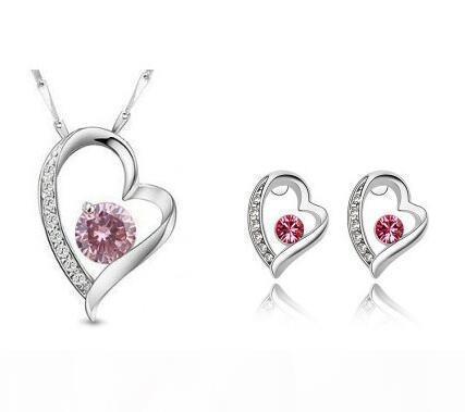 G 2020gold banhado bonito mulheres cristal jóias conjuntos feitos com Swarovski Elements colar brincos de diamante conjunto de jóias de casamento ajusta o presente