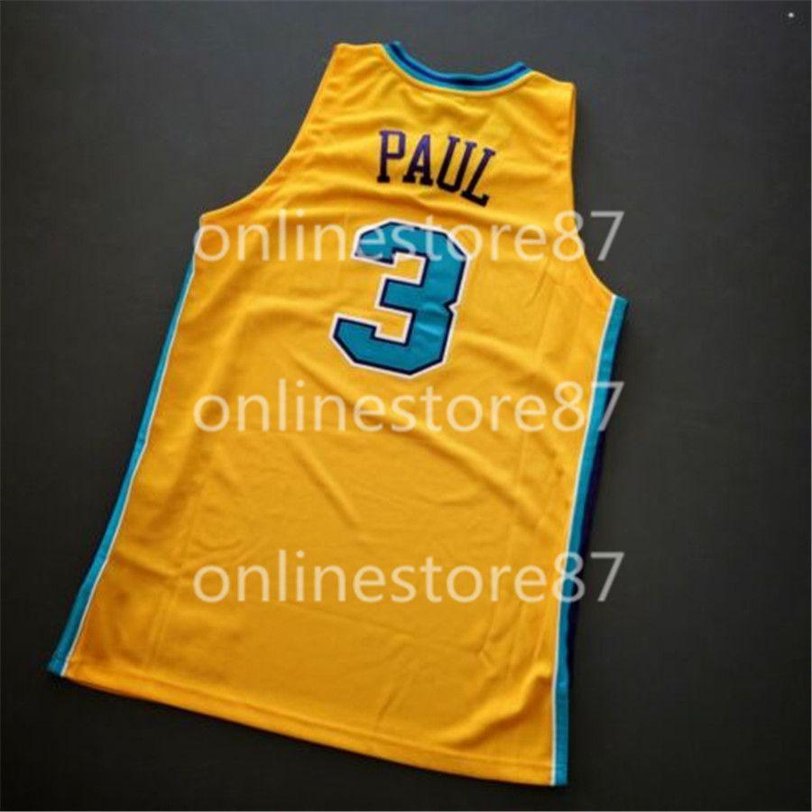 Los hombres de la vendimia 2005 -2006 Chris Paul Mitchell Ness jersey camisetas de baloncesto de la universidad de encargo cualquier nombre o número