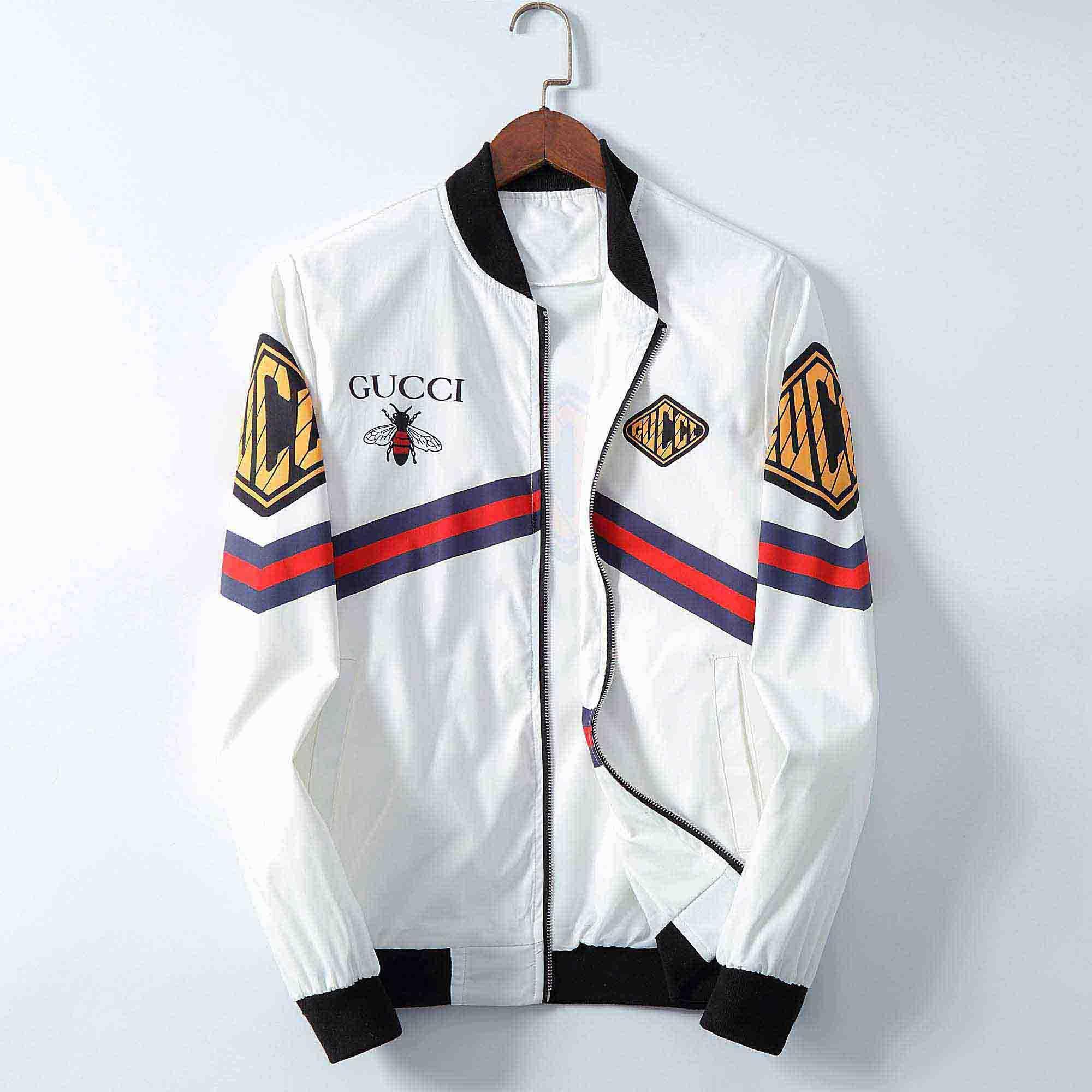 Großhandel 2020 Jacke der Männer Mode Persönlichkeit gedruckte Stickerei Mantel Medusa Jacke lose Stehkragen Strickjacke Reißverschluss Männer Mantel